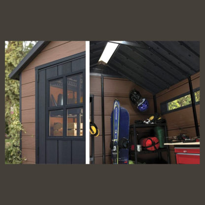keter 7511 shed features inside